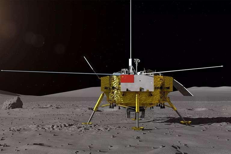 Pendaratan Pesawat Antariksa Pertama China Chang'e-4 di Sisi Terjauh Bulan