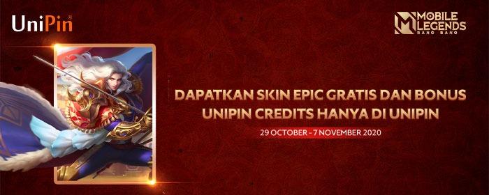 Raih Skin Epic Free Dan Bonus Unipin Credits Hanya Di Unipin Teknologi Id
