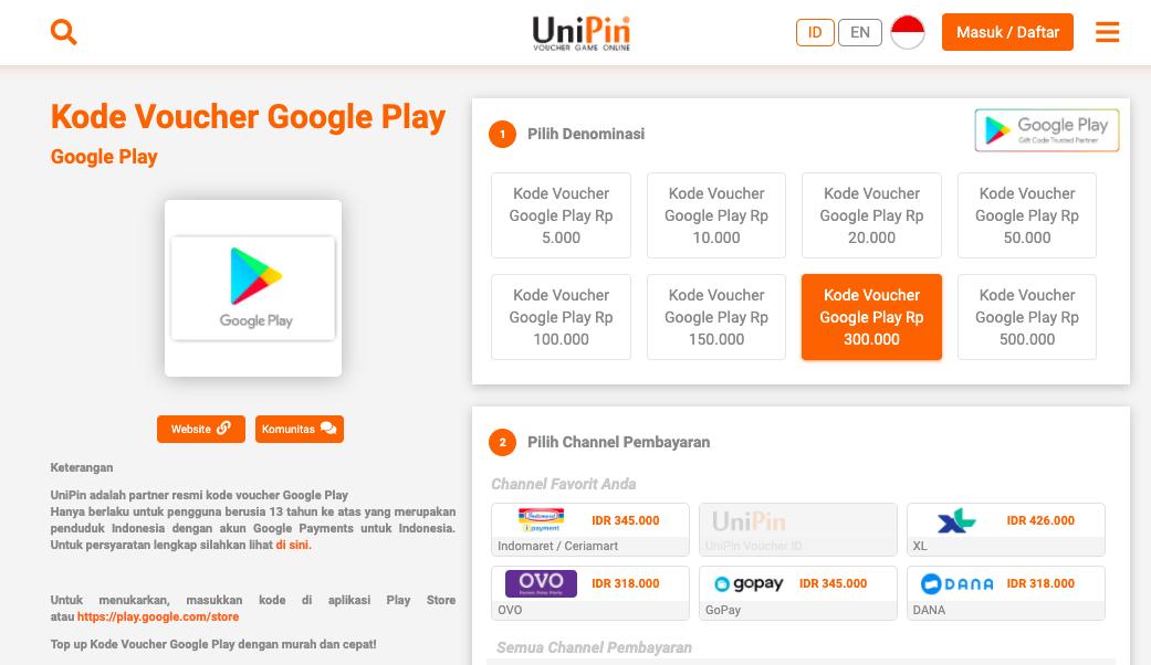 Cara Cepat Dan Mudah Beli Voucher Google Play Pakai Unipin Teknologi Id