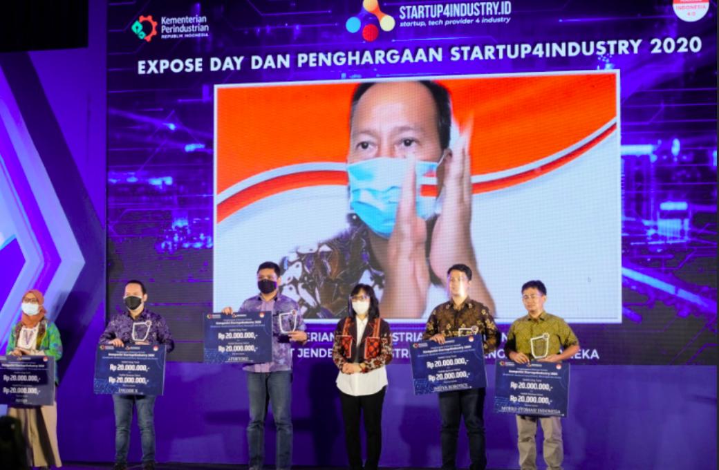 Aturtoko Juara E-commerce Enabler Startup4Industry 2020
