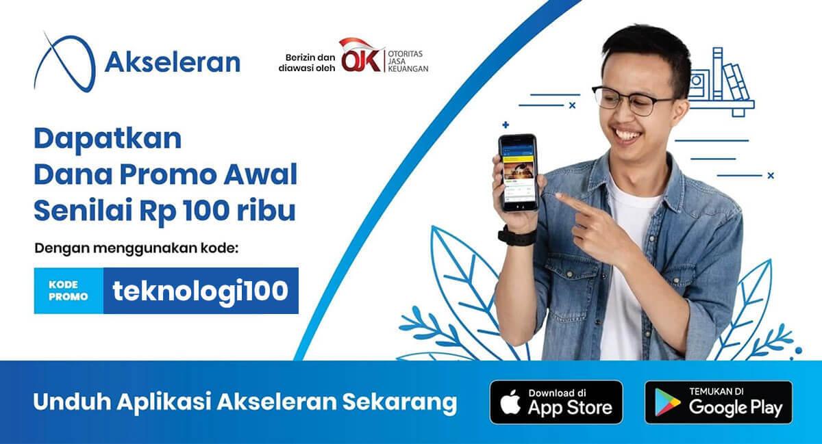 Kode Promo Akseleran Teknologi100 dan dapatkan dana awal 100ribu